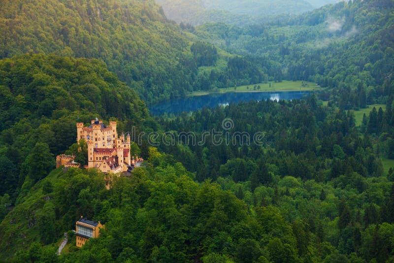 Baje el castillo de Schwangau imagen de archivo