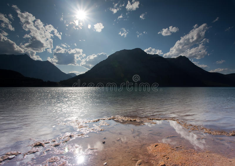 Baje el lago Kananaskis fotografía de archivo