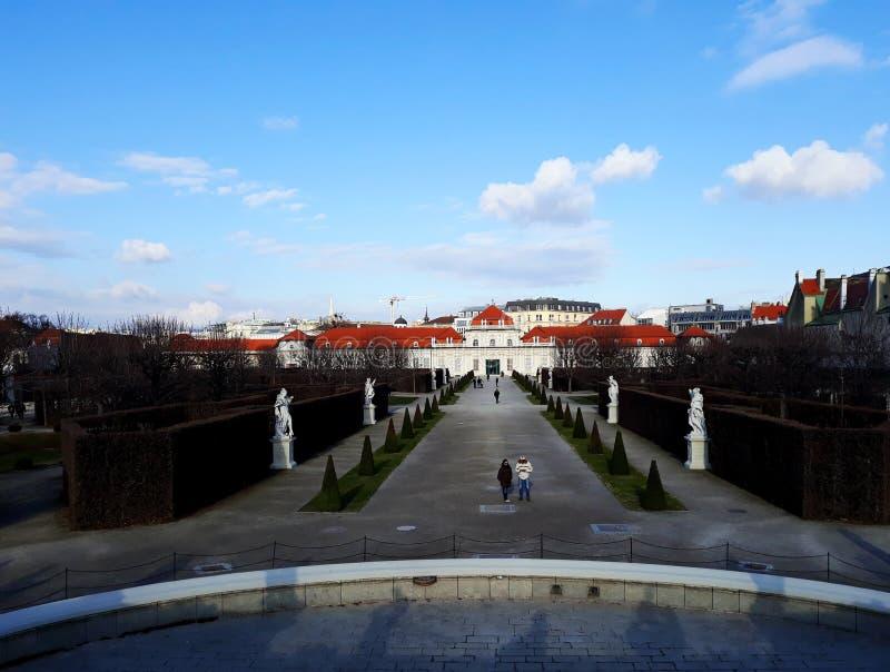 Baje el palacio del belvedere en Viena imagen de archivo libre de regalías