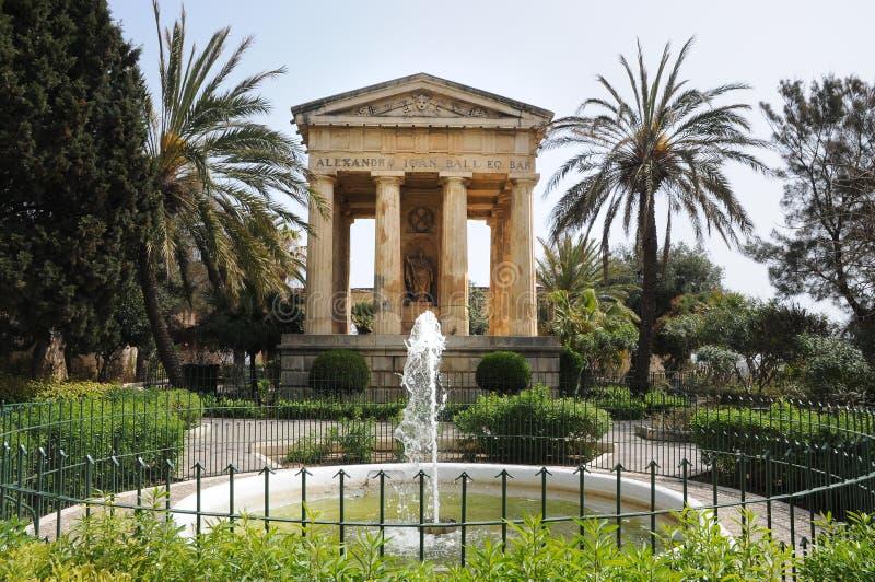 Baje los jardines de Barrakka fotografía de archivo libre de regalías