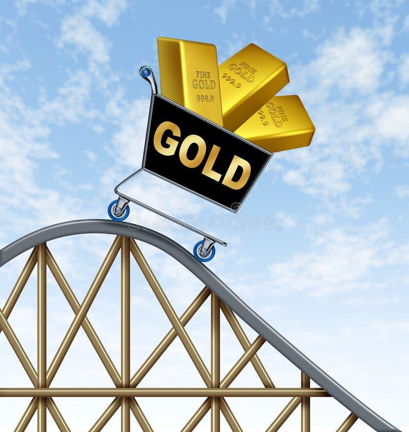 Baje los precios del oro stock de ilustración