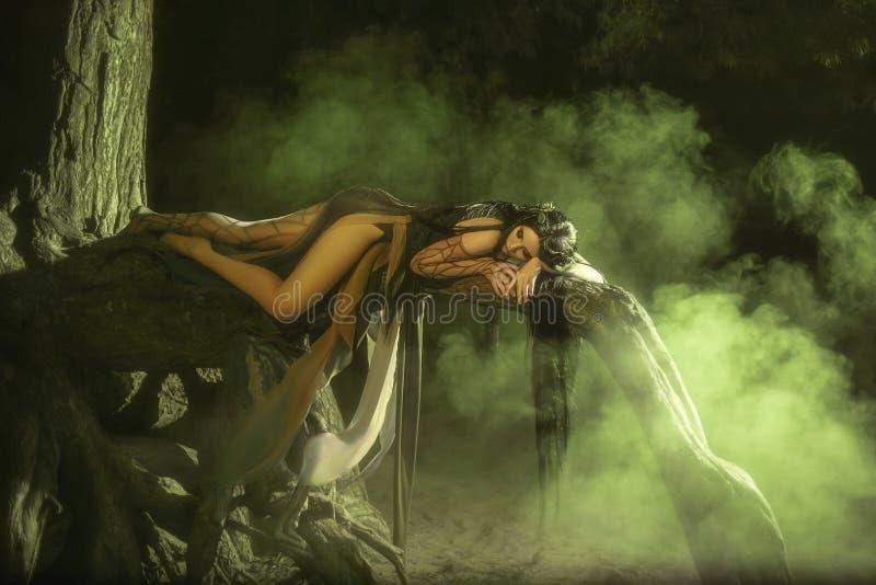 Bajecznie; lasowa boginka Gyana zdjęcia royalty free