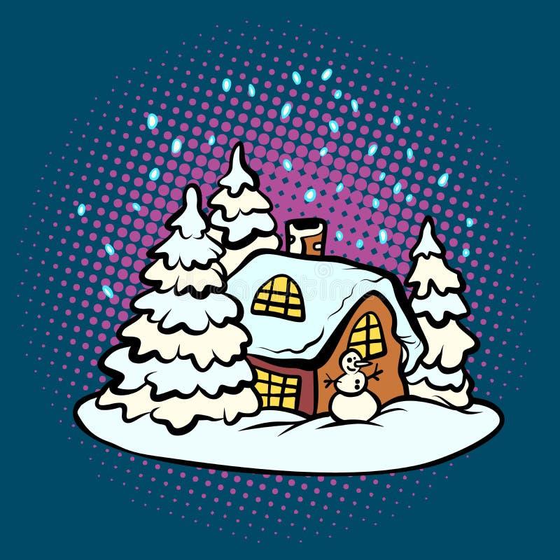 Bajecznie piernikowy boże narodzenie dom ilustracji