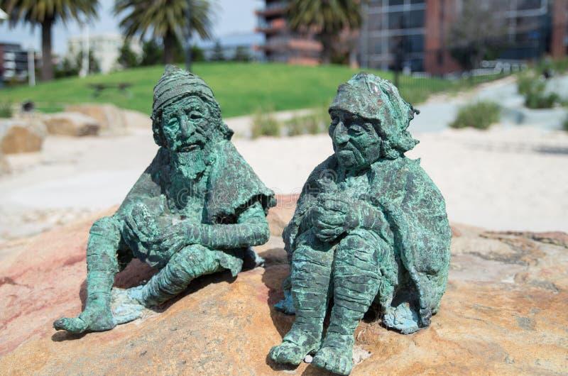 Bajek rzeźby na Geelong nabrzeżu fotografia royalty free