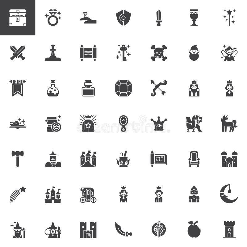Bajek wektorowe ikony ustawiać royalty ilustracja