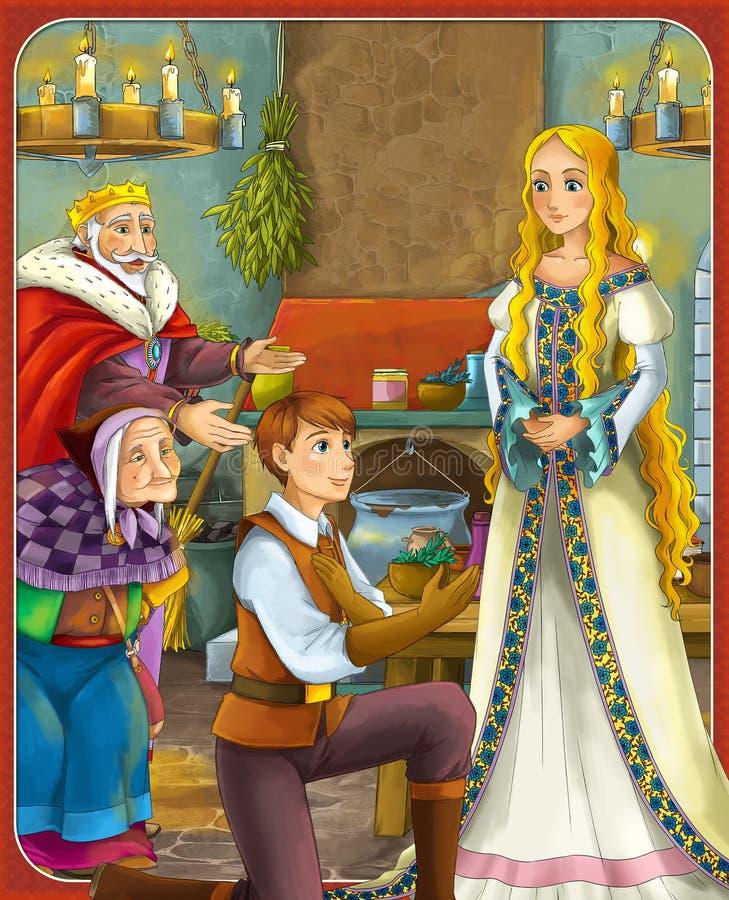 Bajka ilustracja dla dzieci - piękny Manga styl - royalty ilustracja