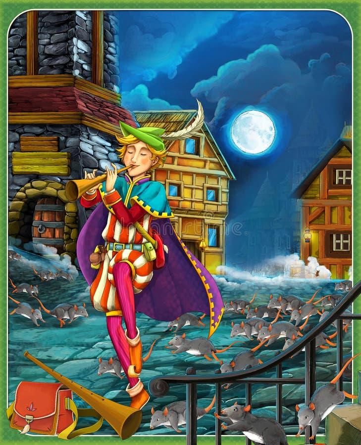 Bajka ilustracja dla dzieci - piękny Manga styl - ilustracja wektor