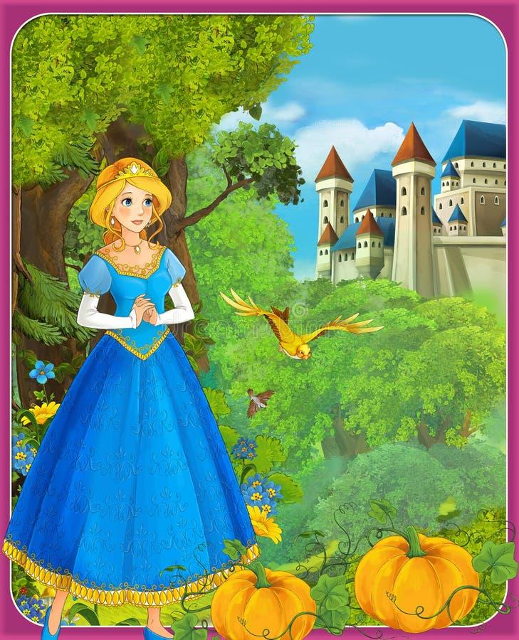 Bajka ilustracja dla dzieci - piękny Manga styl - ilustracji