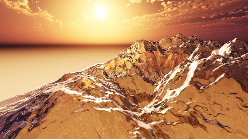 Bajka krajobraz ilustracja wektor