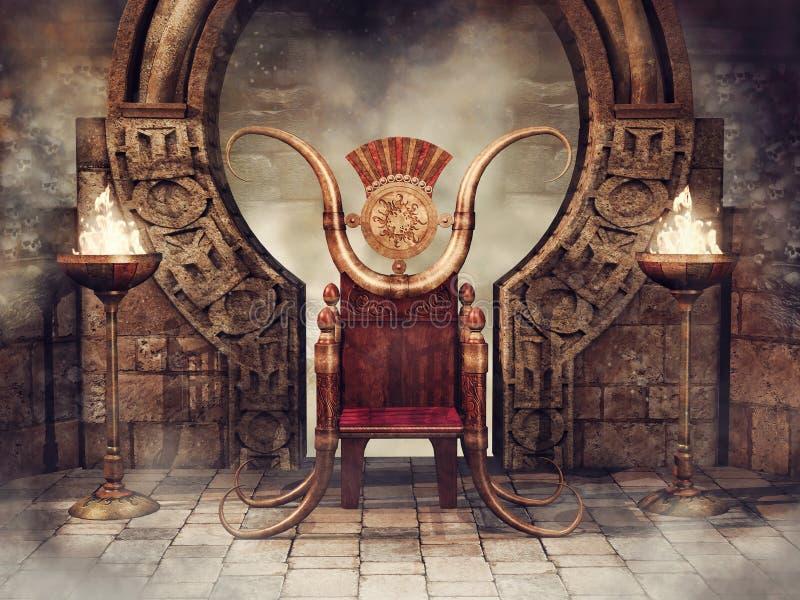 Bajka palniki i tron royalty ilustracja