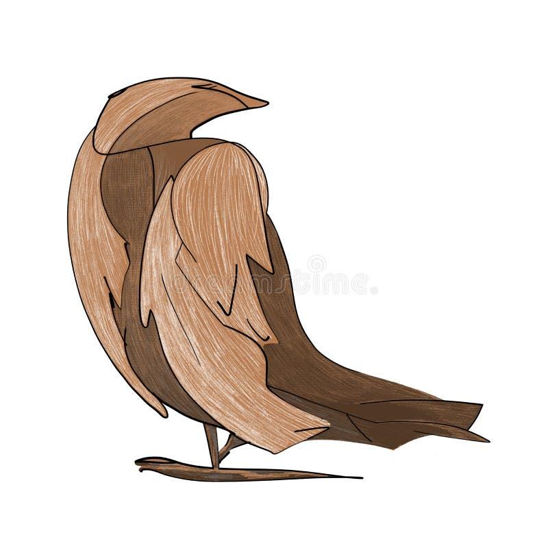 Bajka ptak, abstrakcjonistyczna ilustracja, charakter royalty ilustracja