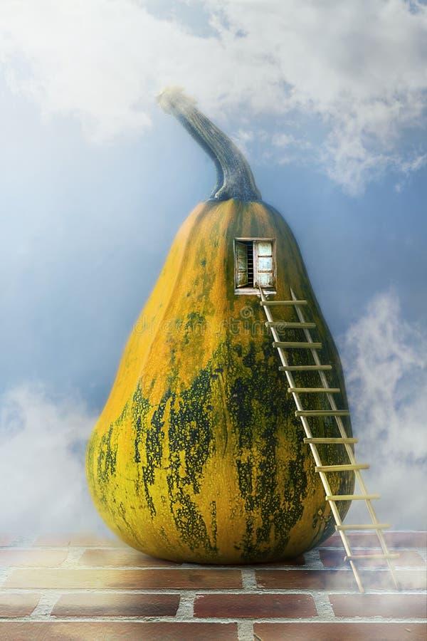 Bajki bani domu drabiny okno royalty ilustracja