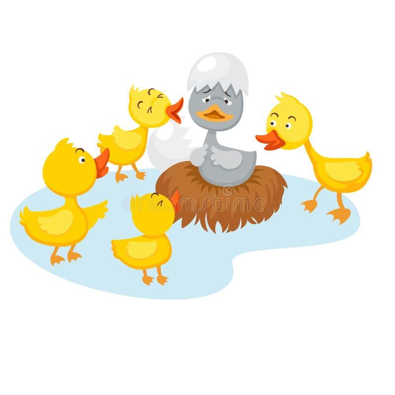 Bajki brzydki kaczątko royalty ilustracja