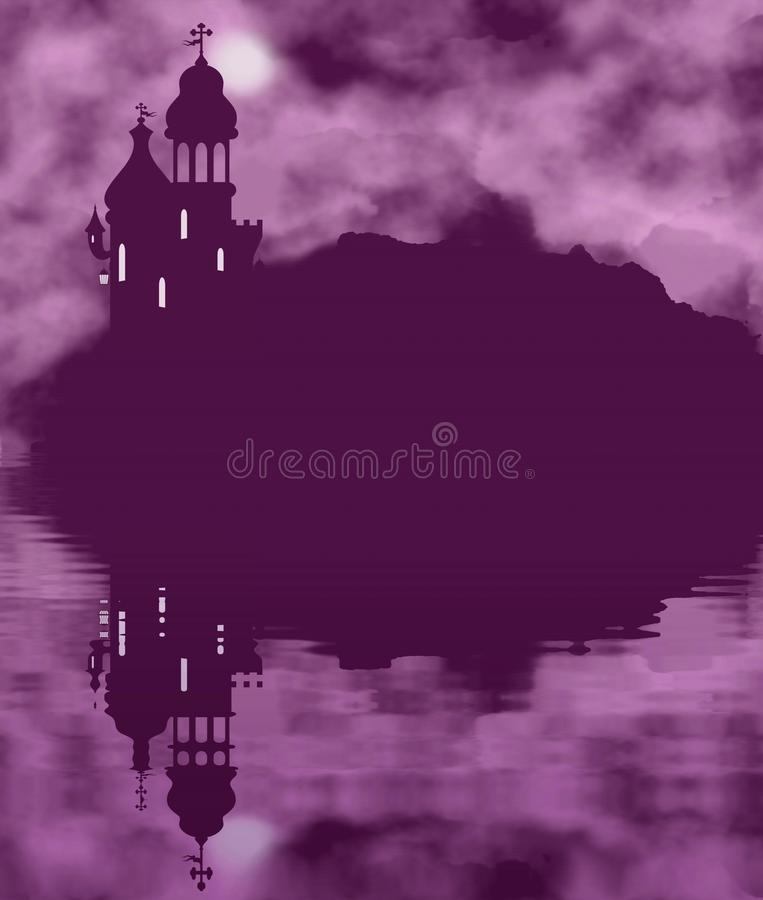 Bajki księżyc i royalty ilustracja
