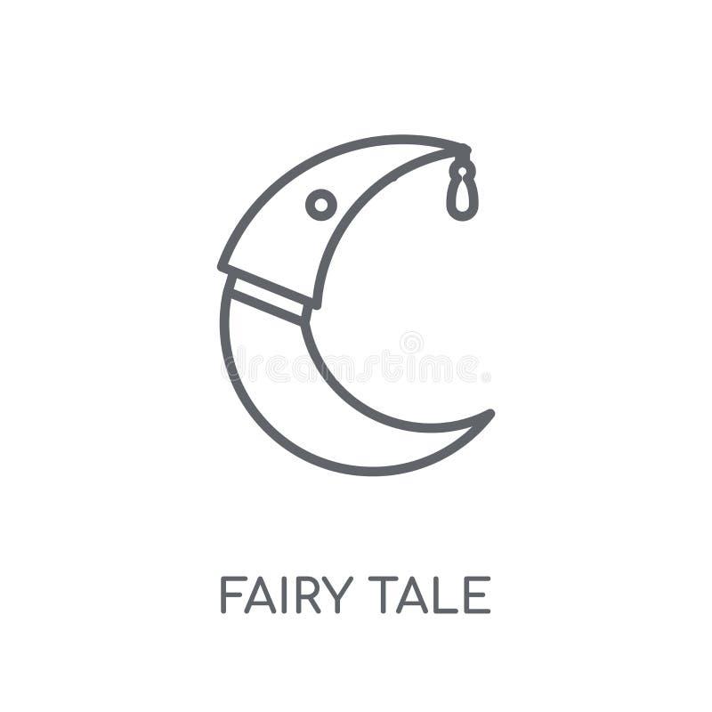 Bajki liniowa ikona Nowożytny kontur bajki logo pojęcie o ilustracji