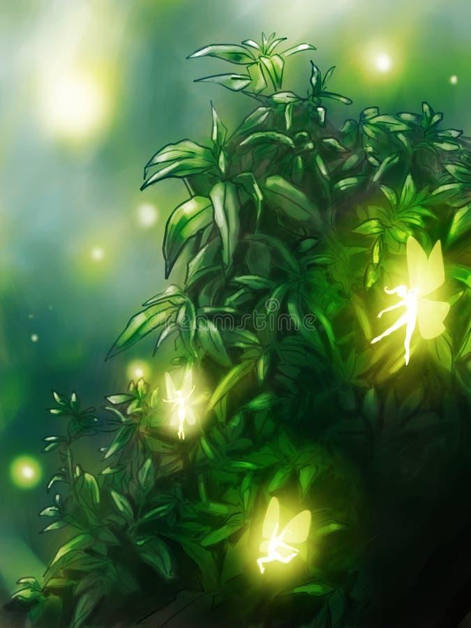 Bajki ogrodowy tło royalty ilustracja