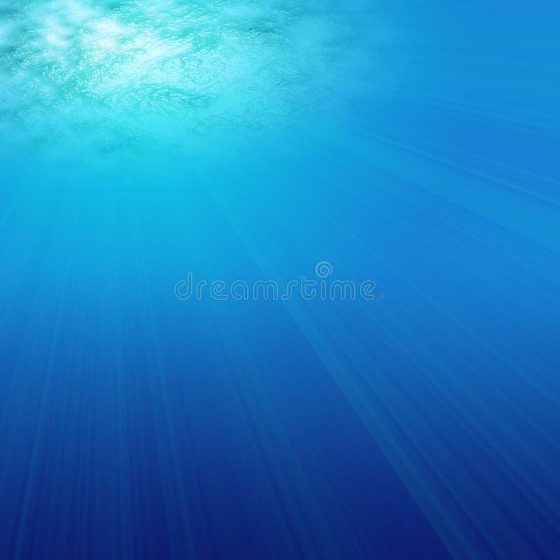 Bajo amor del agua stock de ilustración