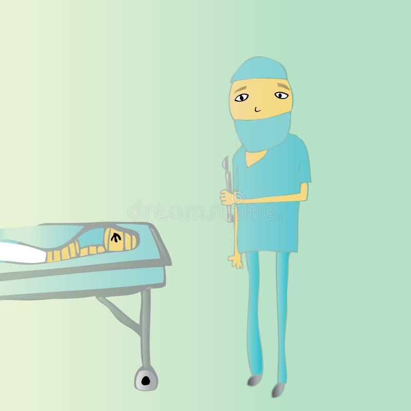 Download Bajo cirugía del cuchillo ilustración del vector. Ilustración de cirugía - 7280341