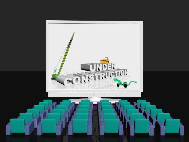 Bajo construcción en la pantalla libre illustration