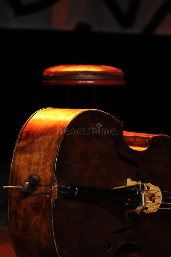 Bajo doble - jazz clásico fotografía de archivo