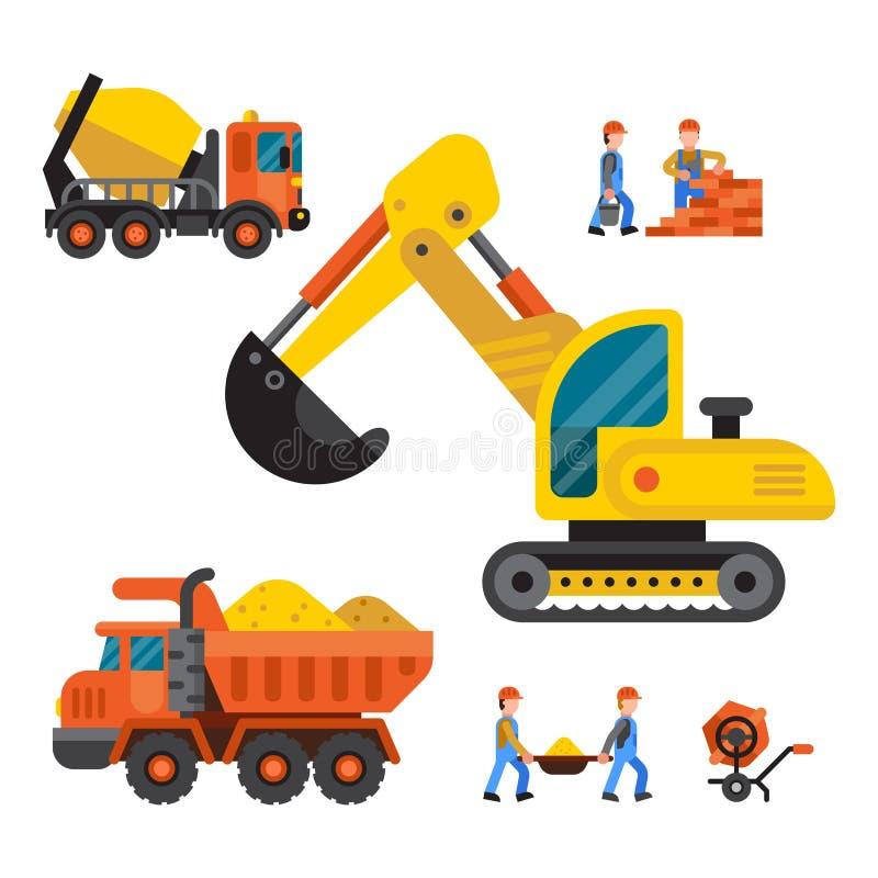 Bajo ejemplo del vector de la técnica de la construcción stock de ilustración