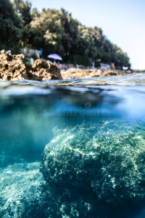 Bajo el agua fotos de archivo