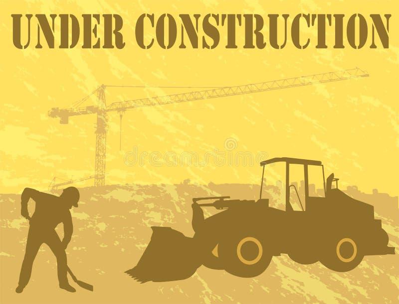 Bajo fondo de la construcción stock de ilustración