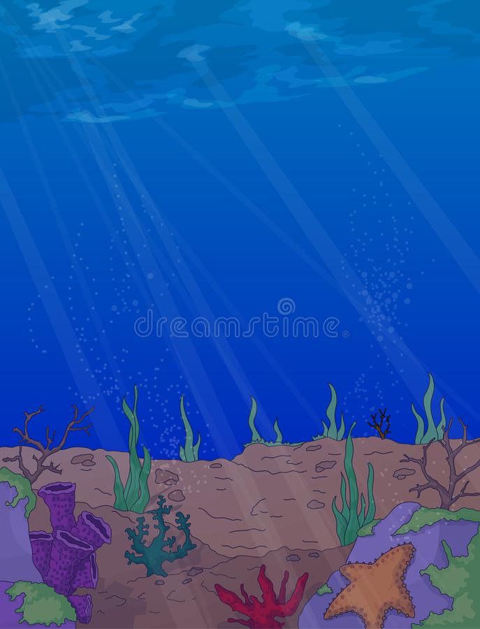 Bajo fondo del vector del mar stock de ilustración