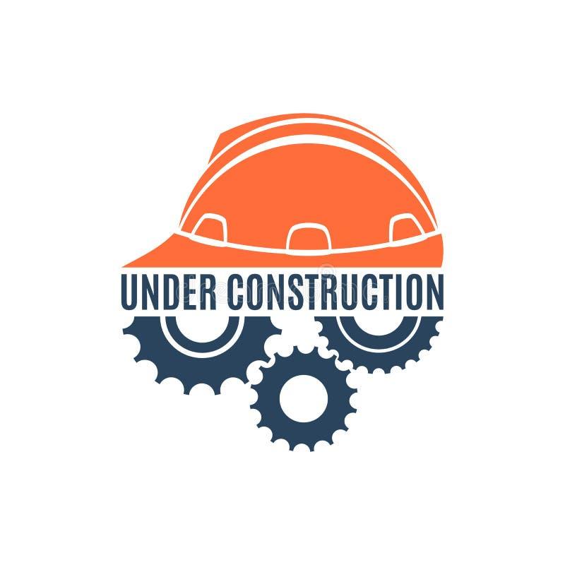 Bajo logotipo conceptual de la construcción libre illustration