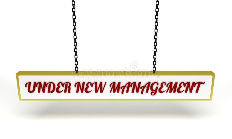 Bajo nueva gestión ilustración del vector