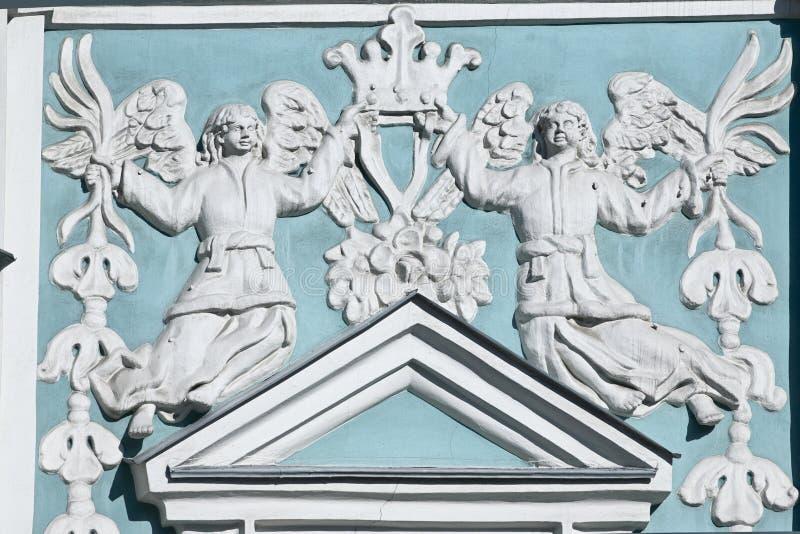 Bajo-relevación en la catedral de Sophia del santo en Kiev foto de archivo