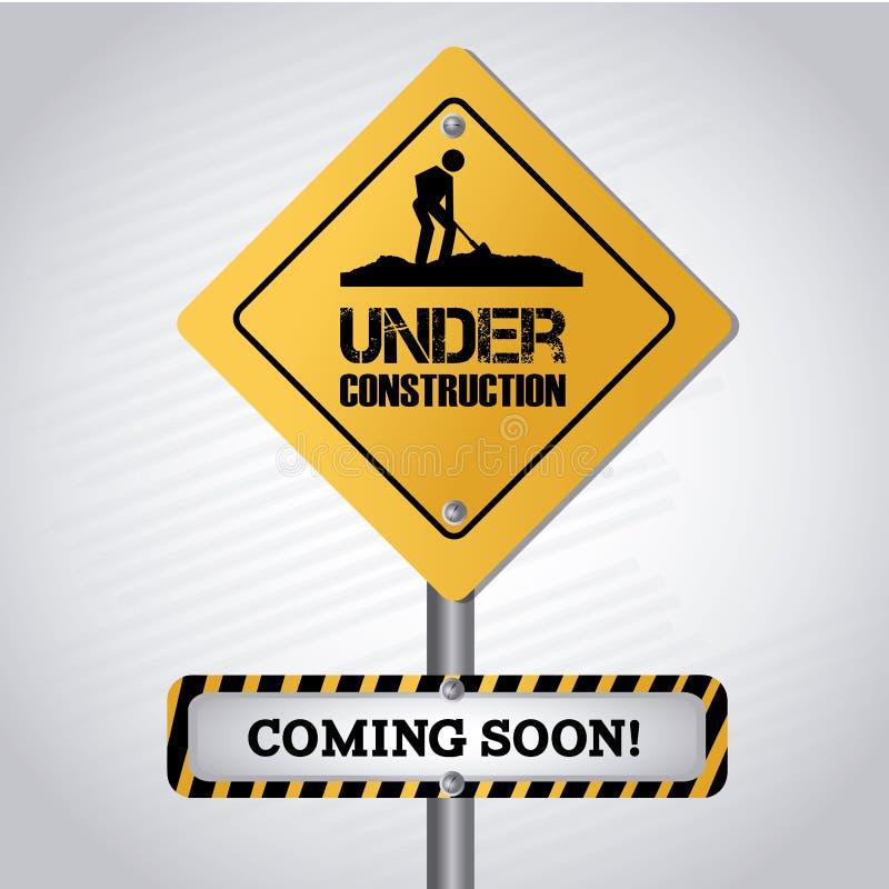 Bajo señal de la construcción libre illustration