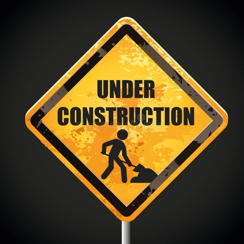 Bajo señal de la construcción stock de ilustración