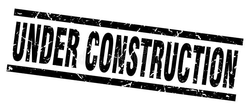 Bajo sello de la construcción ilustración del vector