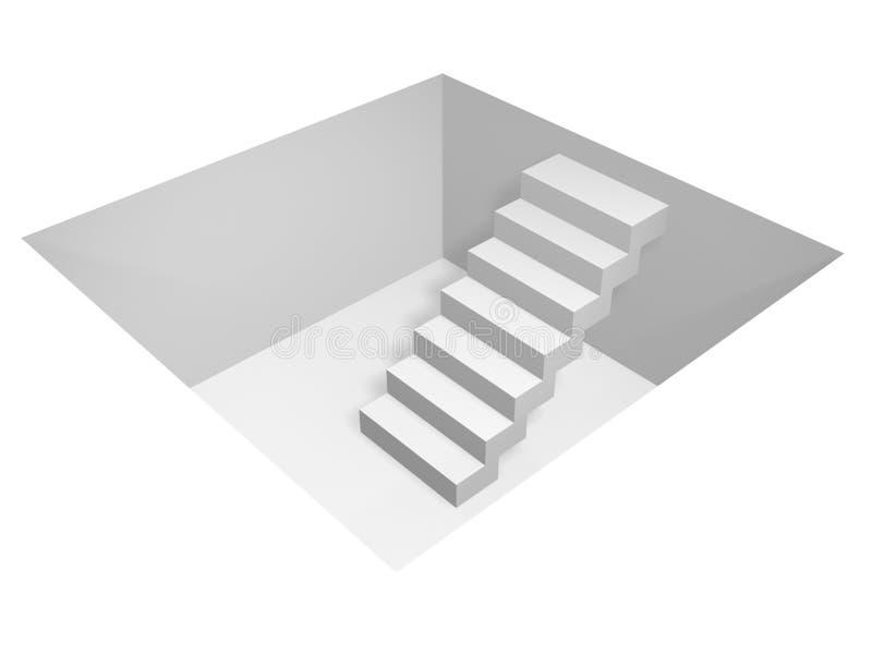 Bajo tierra ilustración del vector