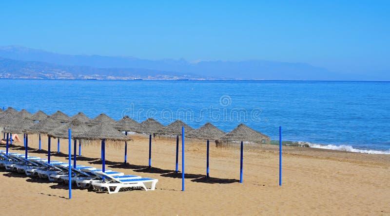 Bajondillo Beach in Torremolinos, Spain stock image