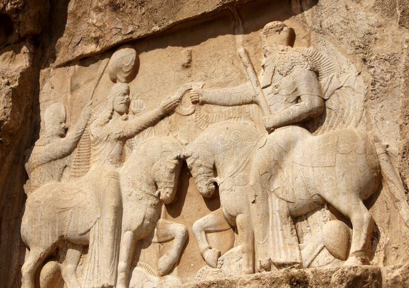 Bajorrelieve en la pared Nakshe-Rustam, Irán fotografía de archivo libre de regalías