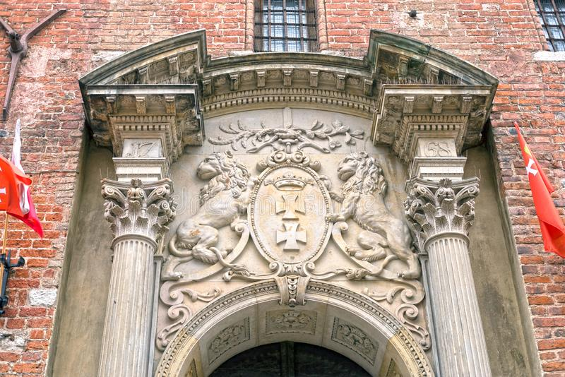 Bajorrelieves de piedra de Gdansk fotografía de archivo libre de regalías