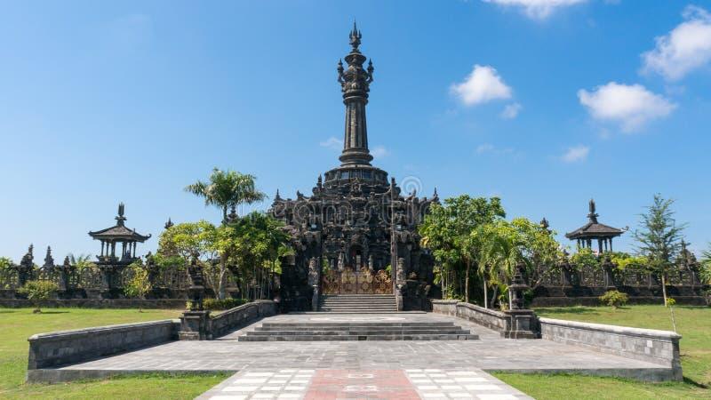 Bajra Sandhi纪念碑在登巴萨,巴厘岛 库存照片
