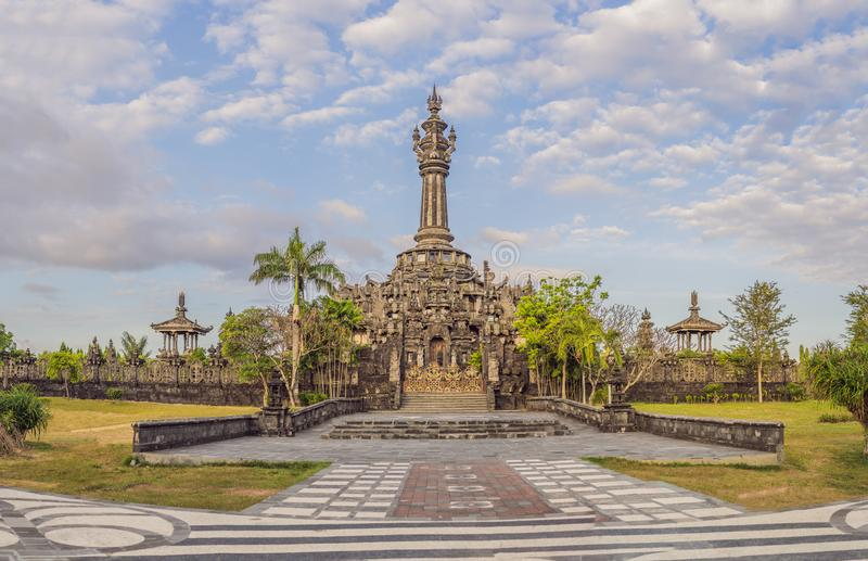 Bajra Sandhi纪念碑或Monumen Perjuangan Rakyat巴厘岛,登巴萨,巴厘岛,印度尼西亚 库存图片