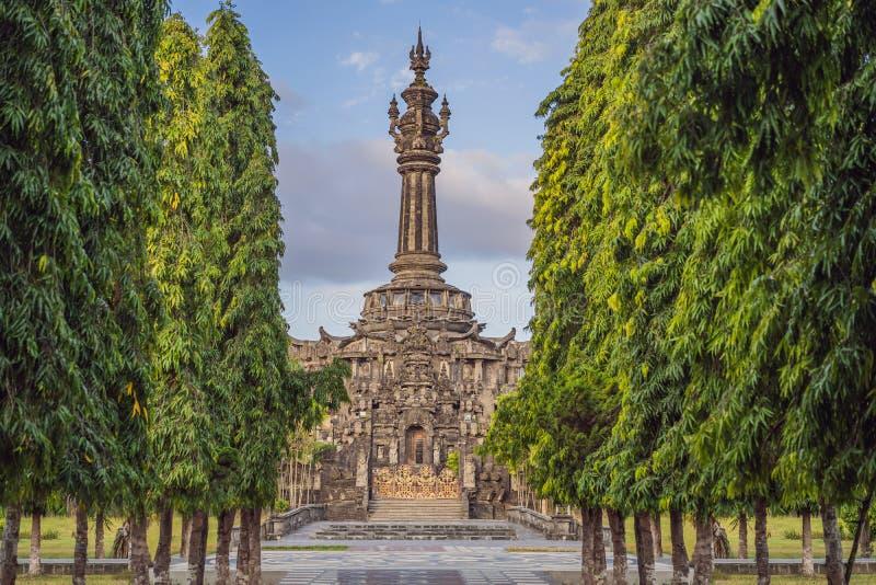 Bajra Sandhi纪念碑或Monumen Perjuangan Rakyat巴厘岛,登巴萨,巴厘岛,印度尼西亚 图库摄影