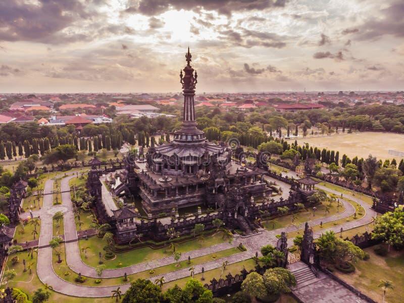 Bajra Sandhi纪念碑或Monumen Perjuangan Rakyat巴厘岛,登巴萨,巴厘岛,印度尼西亚 免版税图库摄影
