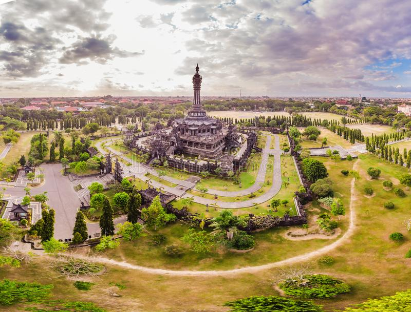 Bajra Sandhi纪念碑或Monumen Perjuangan Rakyat巴厘岛,登巴萨,巴厘岛,印度尼西亚 免版税库存图片
