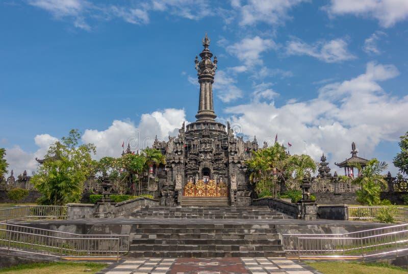 Bajra Sandhi纪念碑或Monumen Perjuangan Rakyat巴厘岛,登巴萨,巴厘岛 库存照片