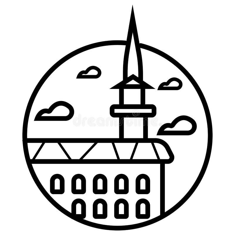 Bajrakli Mosque, Prizren, Kosovo royalty free illustration