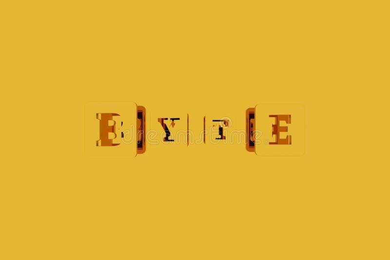 Bajt, ict słowo kluczowe Dla strony internetowej, graficznego projekta, tekstury lub t?a, ilustracji