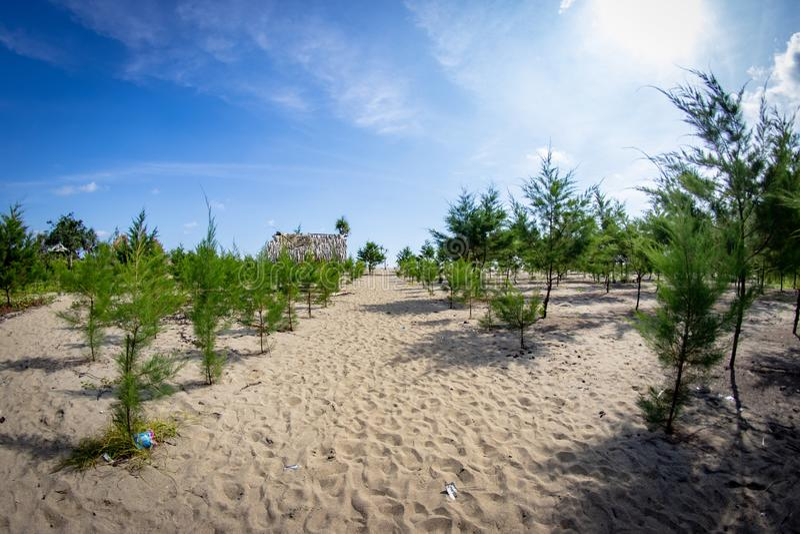 Bajul Mati Beach Malang, Indonésie photographie stock
