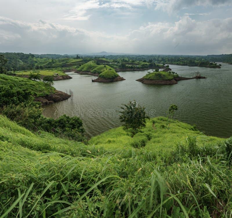 Bajulmatireservoir in Situbondo Indonesië royalty-vrije stock fotografie