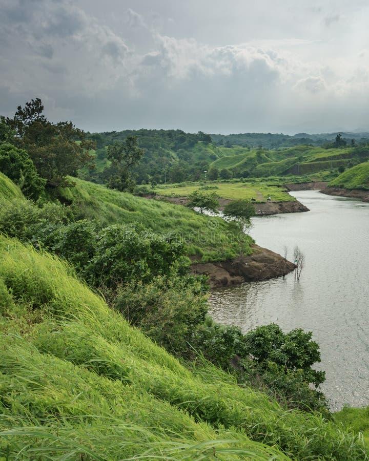 Bajulmatireservoir in Situbondo Indonesië stock foto