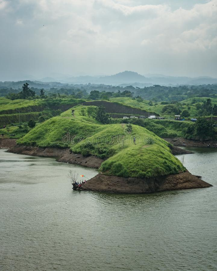 Bajulmatireservoir in Situbondo Indonesië royalty-vrije stock foto